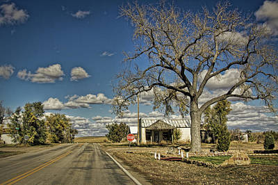 Photograph - Quinn Town, South Dakota Country Road by Tatiana Travelways