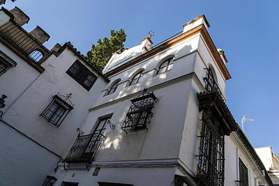 Photograph - Quintessential Andalusia - Wrought Iron Balconies And Whitewashed Facades by Georgia Mizuleva