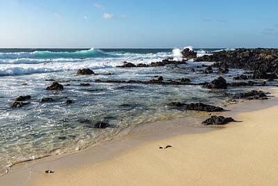 Photograph - Quintessential Hawaii - Beach Lava Rocks And Waves by Georgia Mizuleva