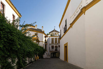 Photograph - Quintessential Spain - Andalusian Architecture In White And Yellow by Georgia Mizuleva