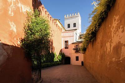 Photograph - Quintessential Spain - Colorful Crenelations In Barrio Santa Cruz Seville by Georgia Mizuleva