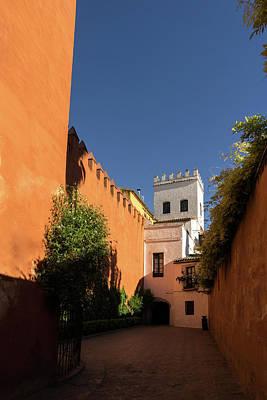 Photograph - Quintessential Spain - Imposing Walls And Crenelated Towers In Barrio Santa Cruz Seville by Georgia Mizuleva