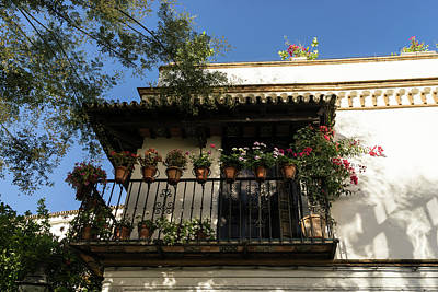 Photograph - Quintessential Spain - The Flowering Balcony by Georgia Mizuleva