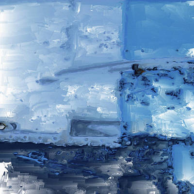 Digital Art - Quite Blue by Tom Druin