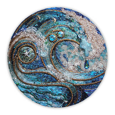 Mosaic Mixed Media - Quite Clearly Ocean by Diana Maus