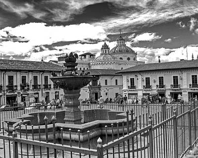 Photograph - Quito Ecuador Plaza De San Franciso by Allen Sheffield