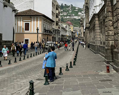 Photograph - Quito Ecuador Street Scene by Allen Sheffield