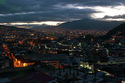 Photograph - Quito Twilight by Cascade Colors