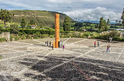 Photograph - Quitsato Sundial, Cayambe, Ecuador by Venetia Featherstone-Witty