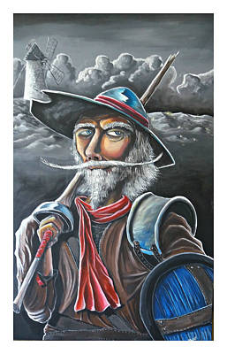 Don Quijote Painting - Quixote Ready For Battle by Juan Hernandez