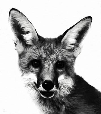 Fox Digital Art - Quizzical Fox by Katrina Britt
