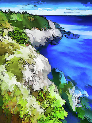 Digitally Manipulated Photograph - Quoddy Coast - Abstract by ABeautifulSky Photography by Bill Caldwell