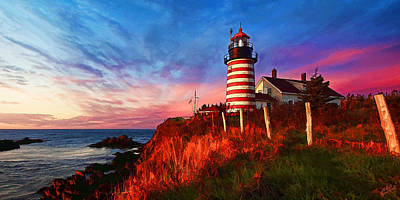 Coastal Maine Photograph - Quoddy Head Sunrise by ABeautifulSky Photography by Bill Caldwell