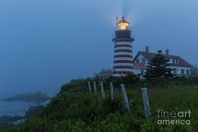 Photograph - West Quoddy Head Light by Joshua Clark