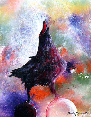 Quothe The Raven Art Print by Sandy Applegate
