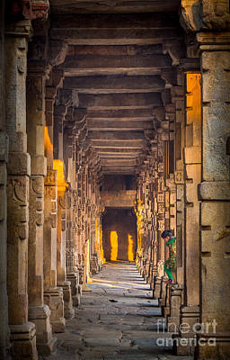 Photograph - Qutab Minar Hidden Boy by Inge Johnsson