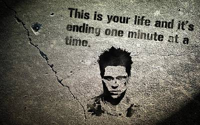 Ending Life Digital Art - Qutote This Is Your Life And Its Ending One Minute At A Time          by F S