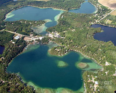 Photograph - R-006 Round And Columbia Lakes Chain O Lakes Waupaca Wisconsin by Bill Lang