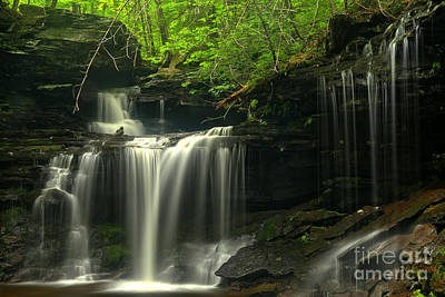 Photograph - R B Ricketts Pennsylvania Falls by Adam Jewell
