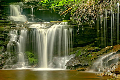 Photograph - R B Ricketts Streaming Falls by Adam Jewell