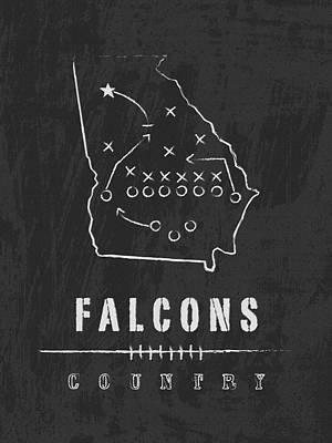 Atlanta Falcons Art - Nfl Football Wall Print Art Print by Damon Gray