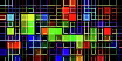 Digital Art - R G B -grid- by Coded Images