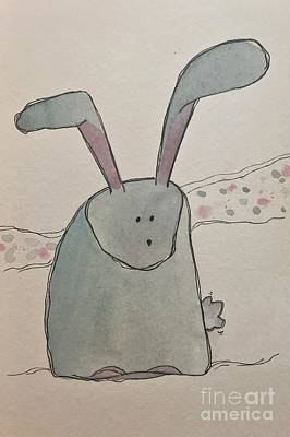 Painting - R Is For Rabbit by Tonya Henderson