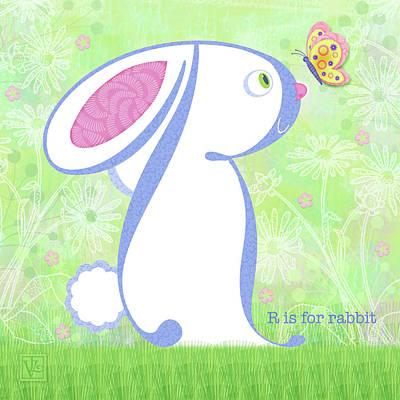 R Is For Rabbit Art Print