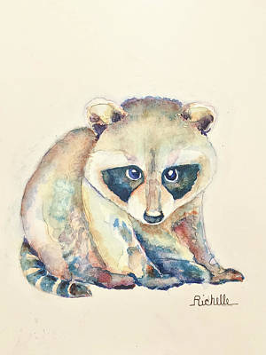 R Is For Raccoon Original by Richelle Siska