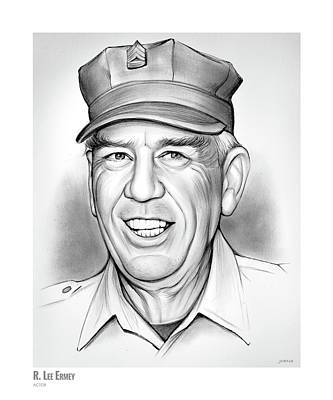 Drawing - R. Lee Ermey by Greg Joens
