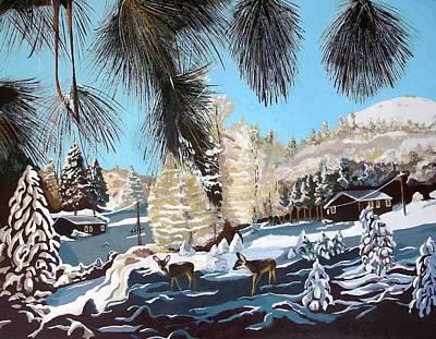 R-ranch In The Winter Art Print by Olga Kaczmar
