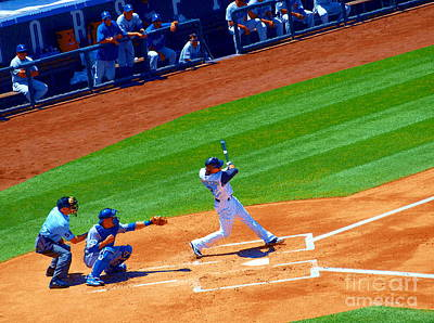 Photograph - R U Ready For Some Baseball - A Sports Paintograph by Christine S Zipps