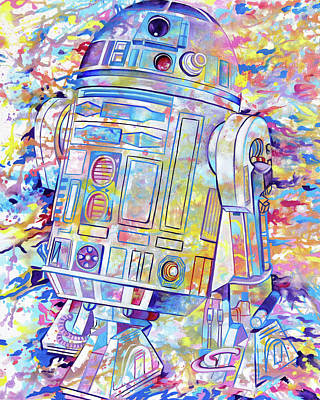Painting - R2-d2 by Joshua Morton