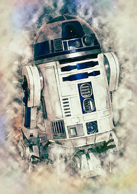 Digital Art - R2-d2 by Taylan Apukovska