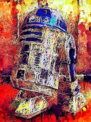 Mixed Media - R2 - D2 by Al Matra