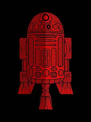 R2d2 Mixed Media - R2d2 - Star Wars Art - Red 2 by Studio Grafiikka