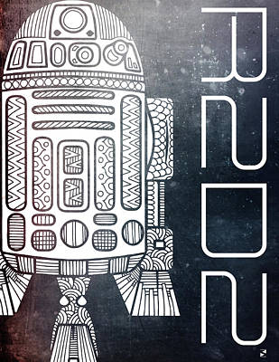 R2d2 - Star Wars Art - Space Art Print