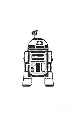 R2d2 Digital Art - R2d2 Star Wars Robot by Edward Fielding