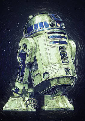 Han Digital Art - R2d2 Star Wars by Semih Yurdabak