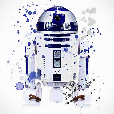 Painting - R2d2 Watercolor by Dan Sproul