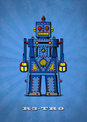 Android Photograph - R3 Tr0 Robot by Mark Rogan