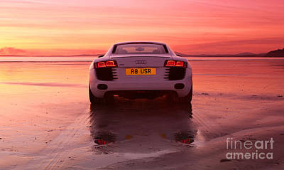 Red Roses - R8 on the beach by Rory Trappe