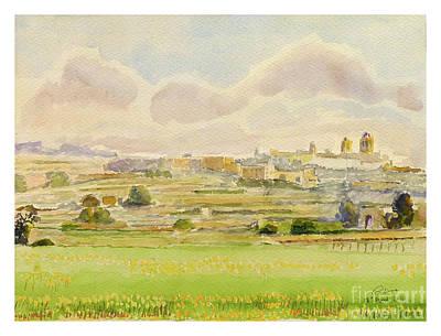 Painting - Rabat/mdina Landscape by Godwin Cassar