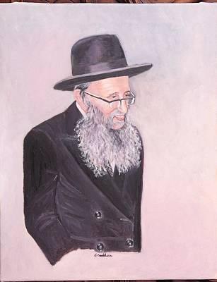 Rav Painting - Rabbi Kamenetsky  by Carla Goodstein