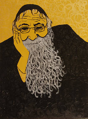Rabbi Art Print by Marla Bender