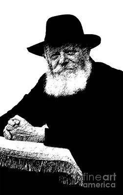 Photograph - It's A Segulah - Rabbi Menachem Schneerson - Lubavitcher Rebbe  by Doc Braham