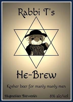 Rabbi T's He-brew Art Print by Piggy