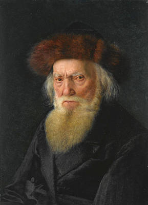 Painting - Rabbi With Furhat by Isidor Kaufmann