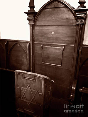 Photograph - Rabbi's Chair by Doc Braham