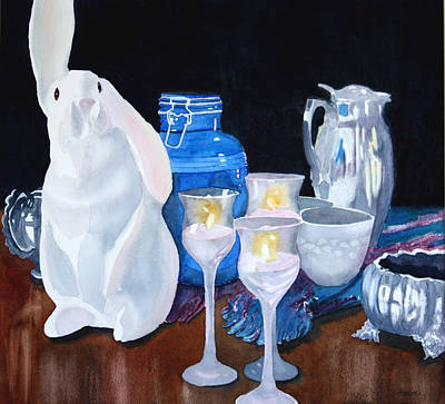 Painting - Rabbit Ears by Ally Benbrook
